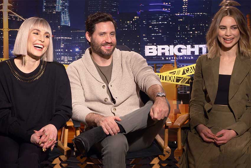 Bright Interview Noomi Rapace Edgar Ramirez Lucy Fry