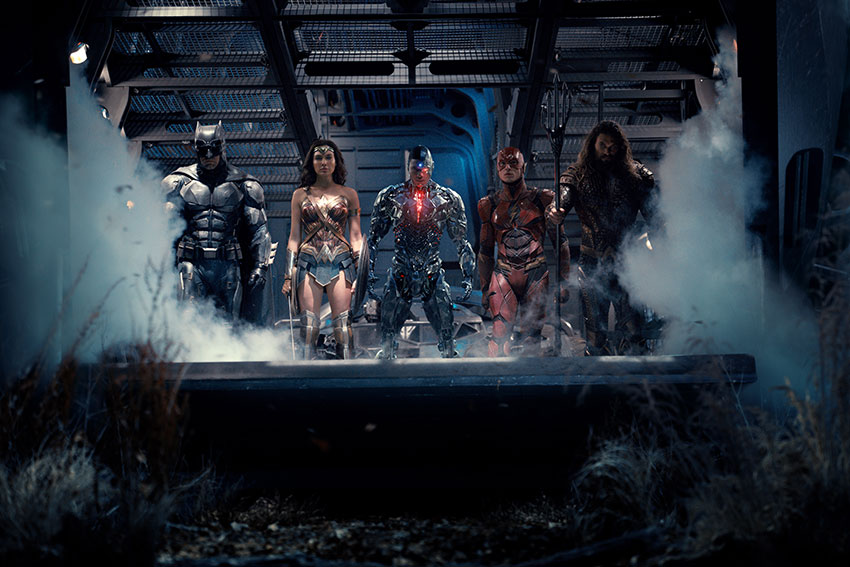 Justice League Batman, Wonder Woman, Aquaman, Cyborg, The Flash