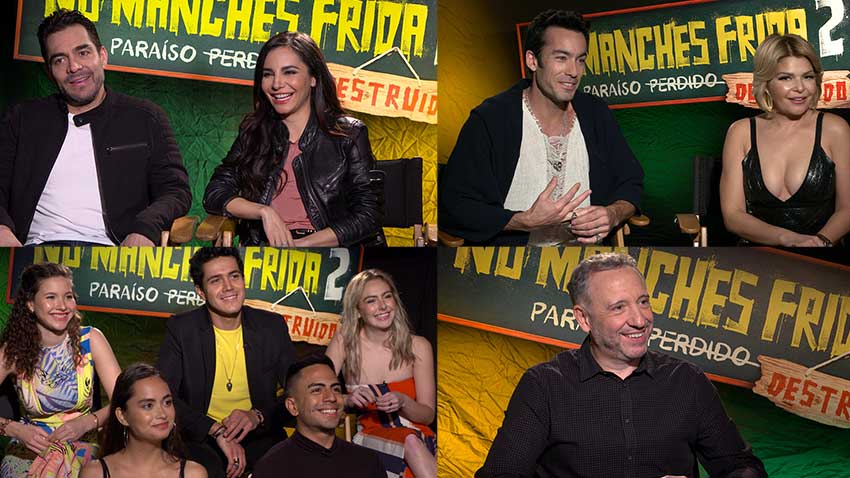 No Manches Frida 2 Omar Chaparro Martha Higareda Aaron Diaz interview 850