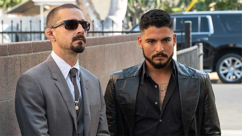 Shia LeBeouf and Bobby Soto in THE TAX COLLECTOR