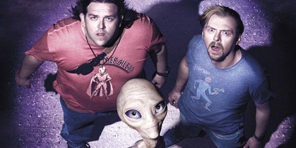 Simon Pegg, Nick Frost, Seth Rogen in PAUL