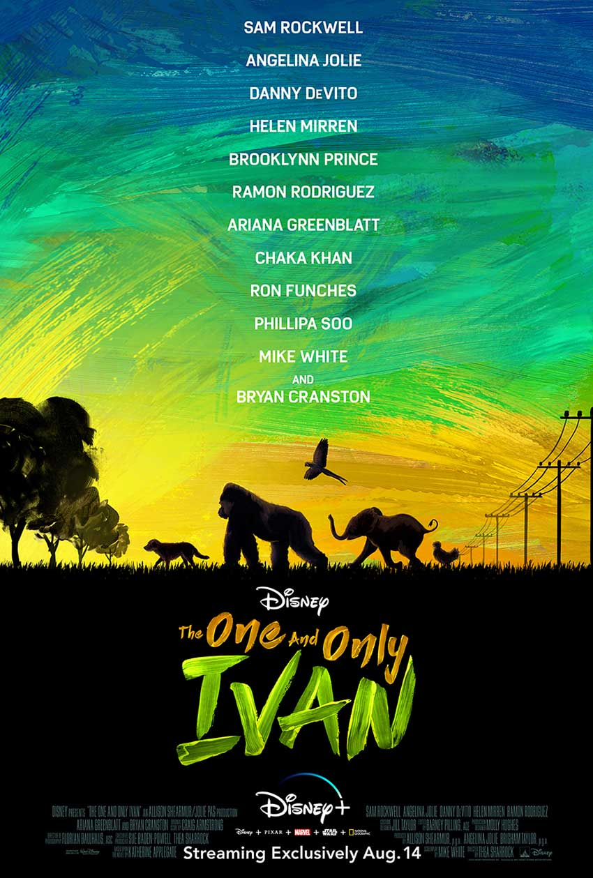 The One and Only Ivan movie poster disney plus