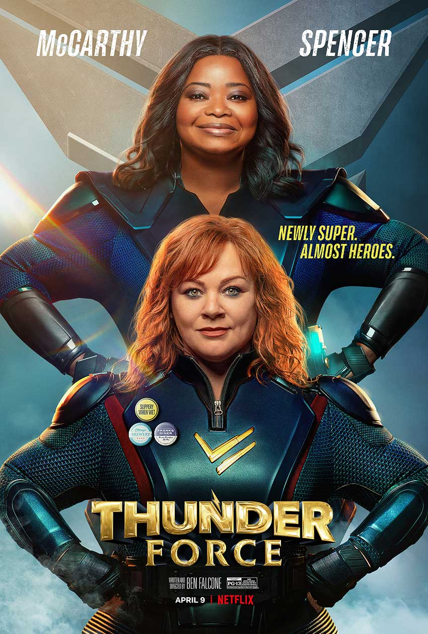 Thunder Force Melissa McCarthy Octavia Spencer poster